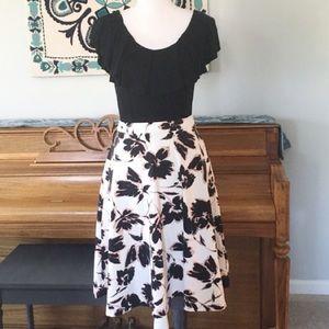 Adrienne Vittadini Floral A-Line Flare Skirt